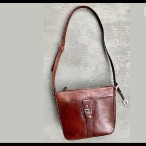 VTG Etienne Aigner Mahogany Tanned Leather Purse